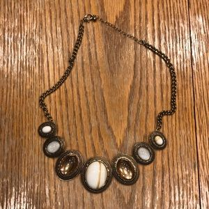 Neutral color statement necklace